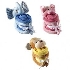 Hudson Baby Plush Animal & Blanket